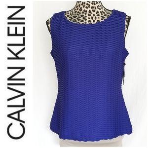 🎀 3/$25 Calvin Klein Royal Blue Career Tank Top